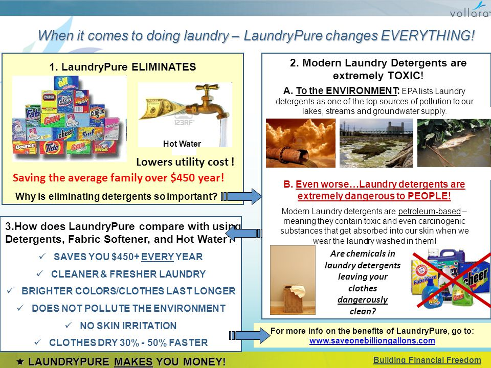 When it comes to doing laundry – LaundryPure changes EVERYTHING.