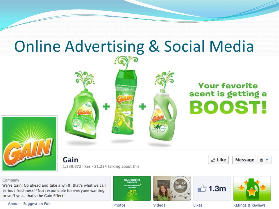 Online Advertising & Social Media Add pictures