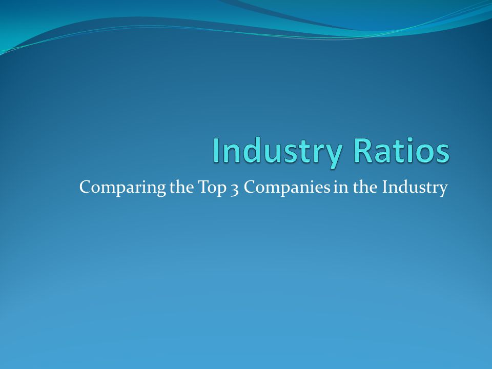 Comparing the Top 3 Companies in the Industry