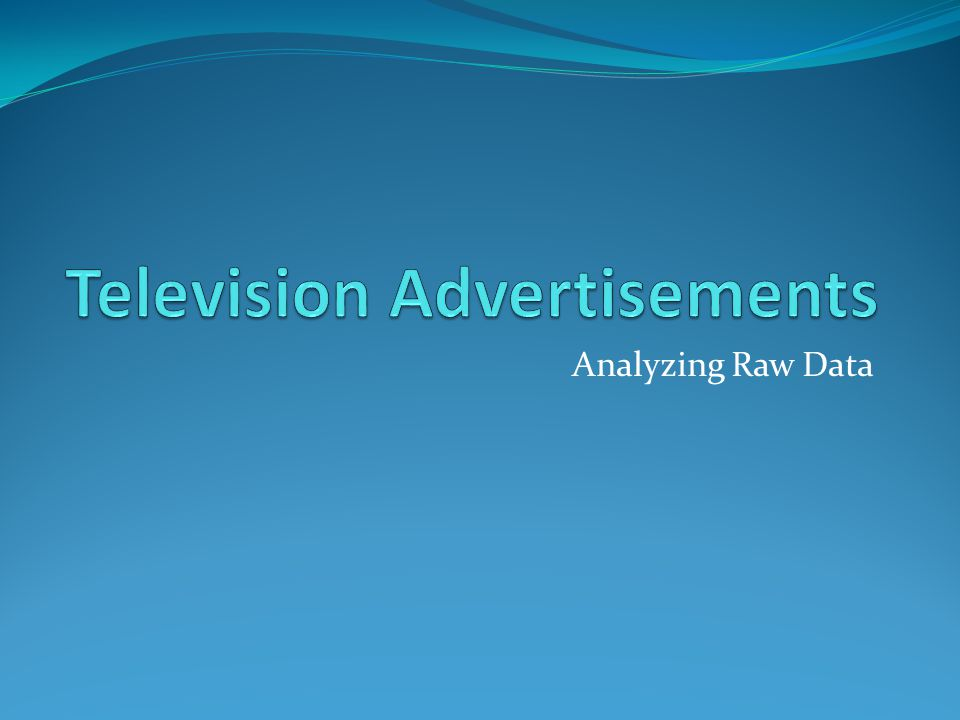 Analyzing Raw Data
