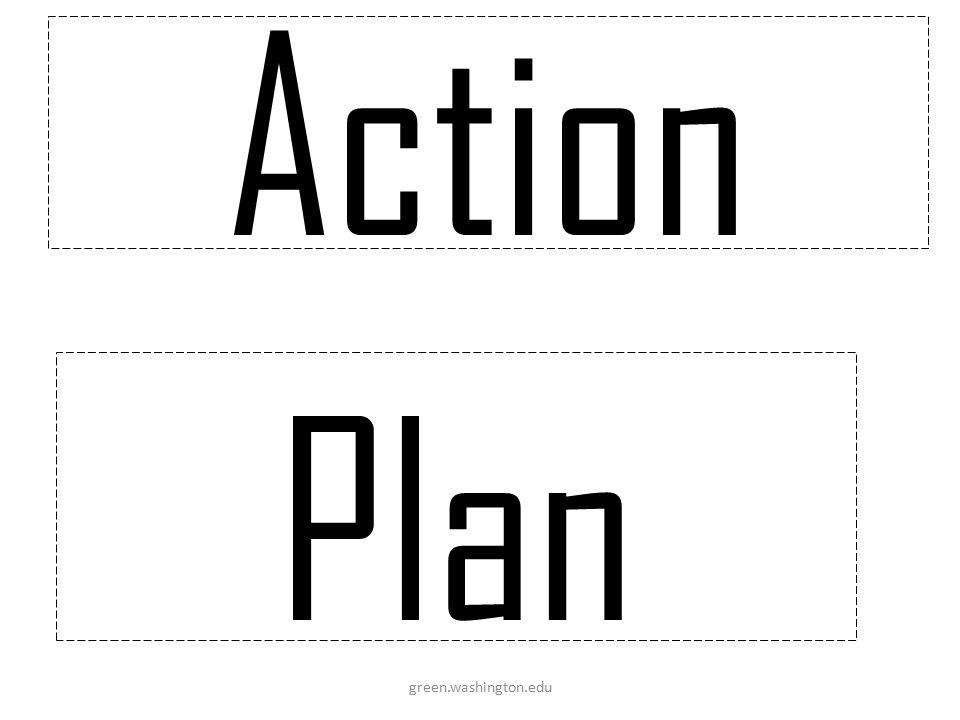 Action Plan green.washington.edu