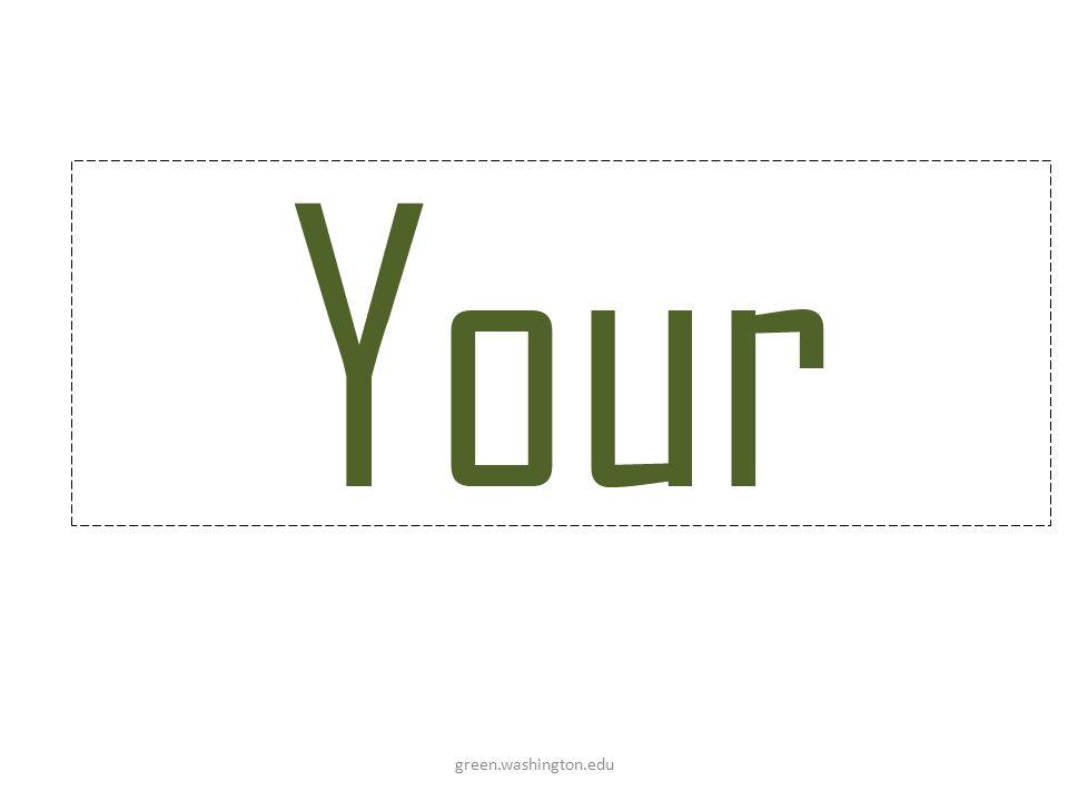 Your green.washington.edu