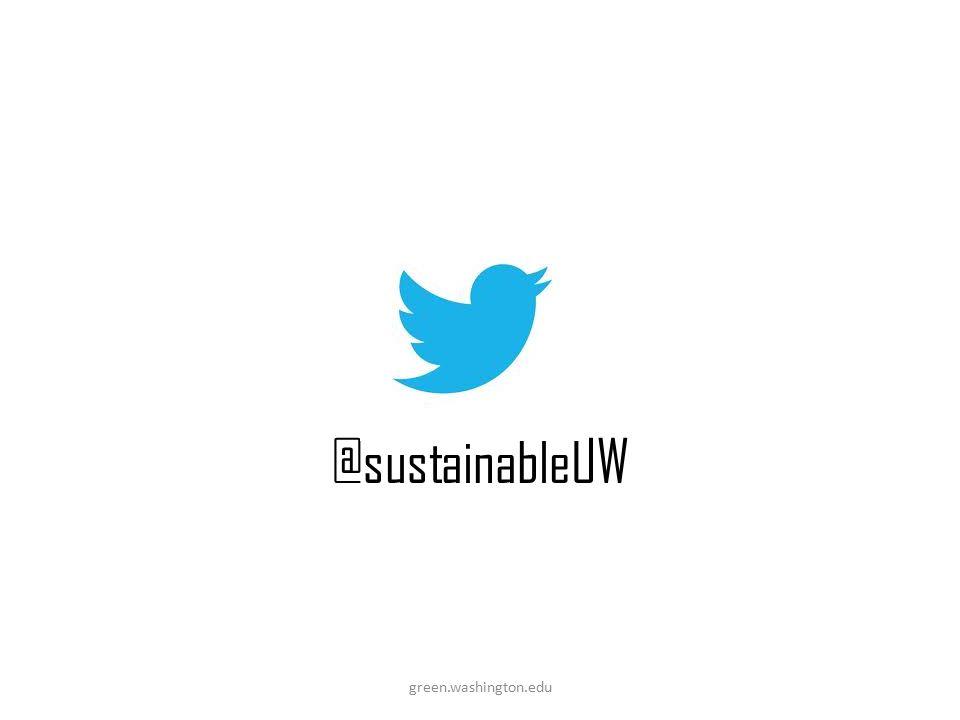 @sustainableUW green.washington.edu