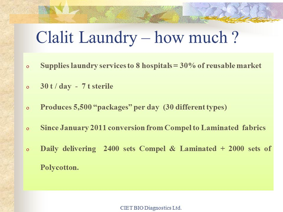 Clalit Laundry – how much .