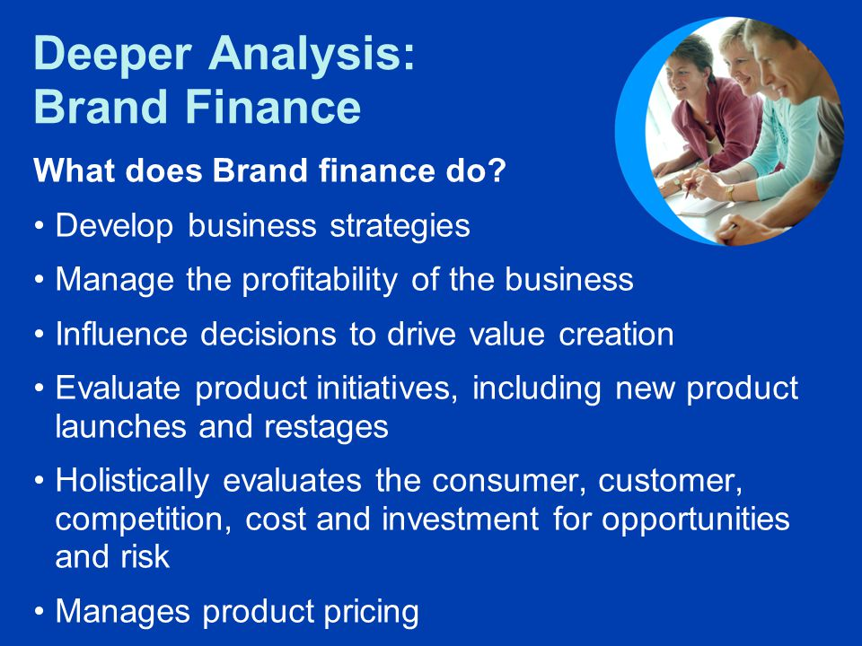 Deeper Analysis: Brand Finance What does Brand finance do.