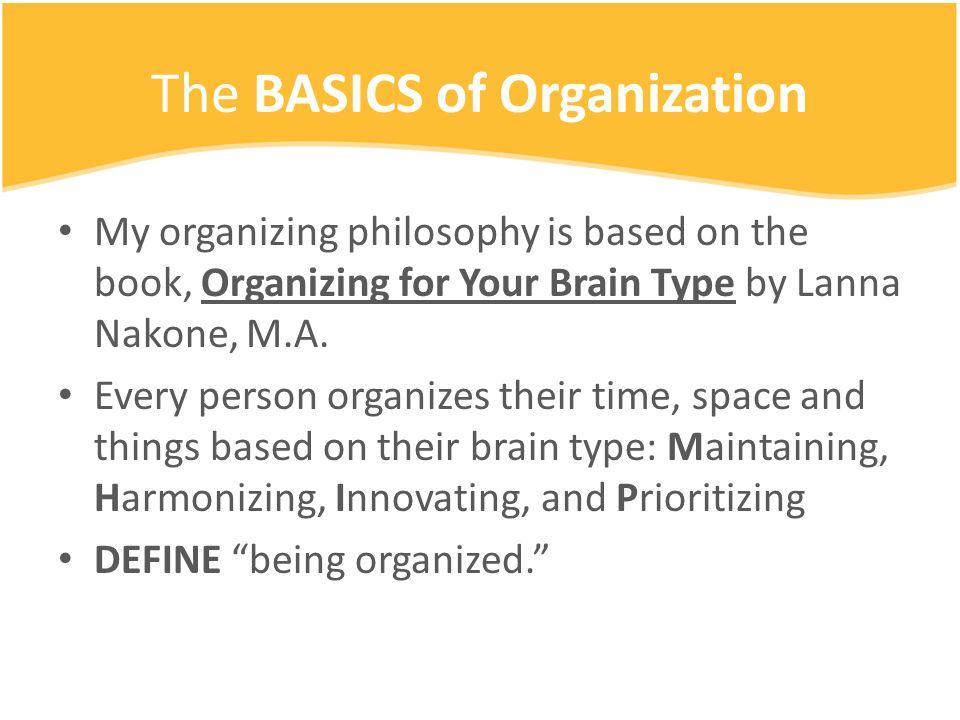 The Balance To Organization