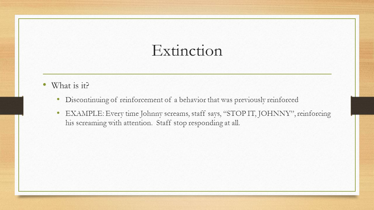 Extinction What is it.