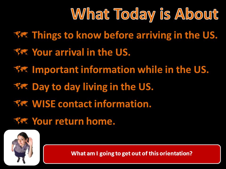 What do I need to know before going to the USA.