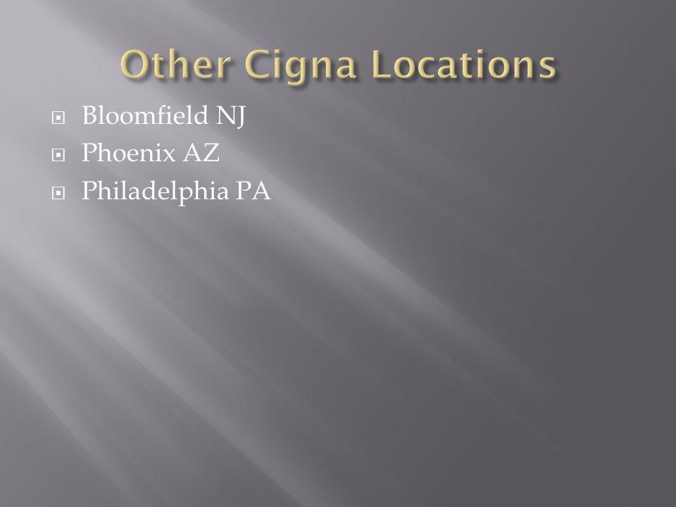 Bloomfield NJ  Phoenix AZ  Philadelphia PA