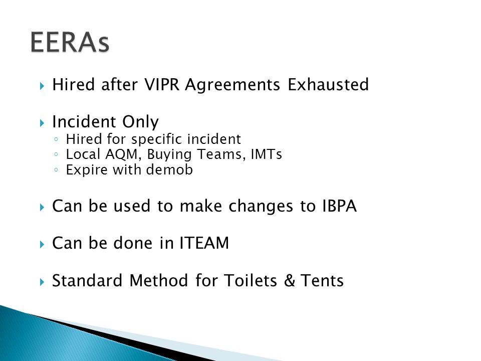  Most IBPAs from 2009 & 2010 still valid ◦ E.g.