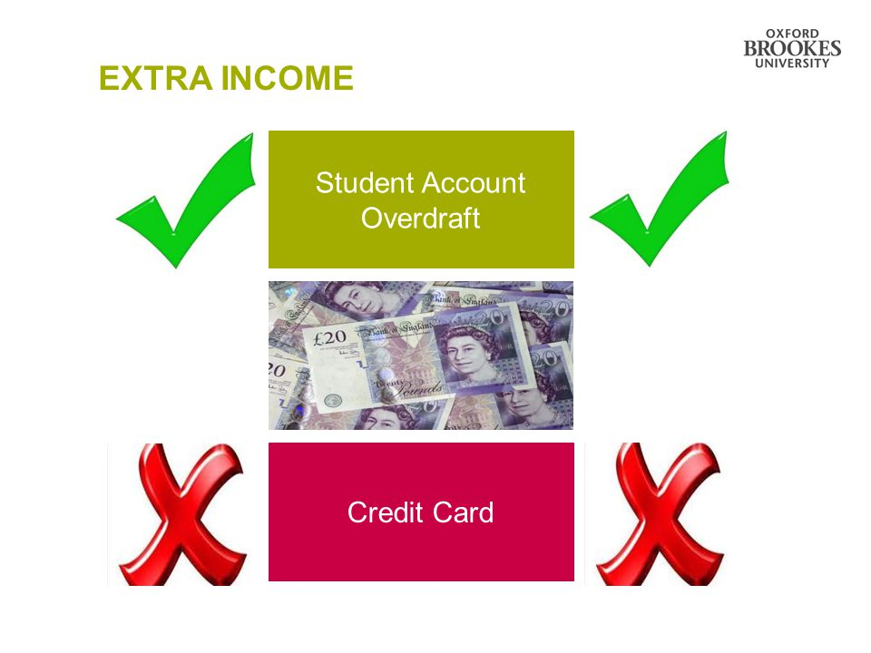 Student Account Overdraft Credit Card