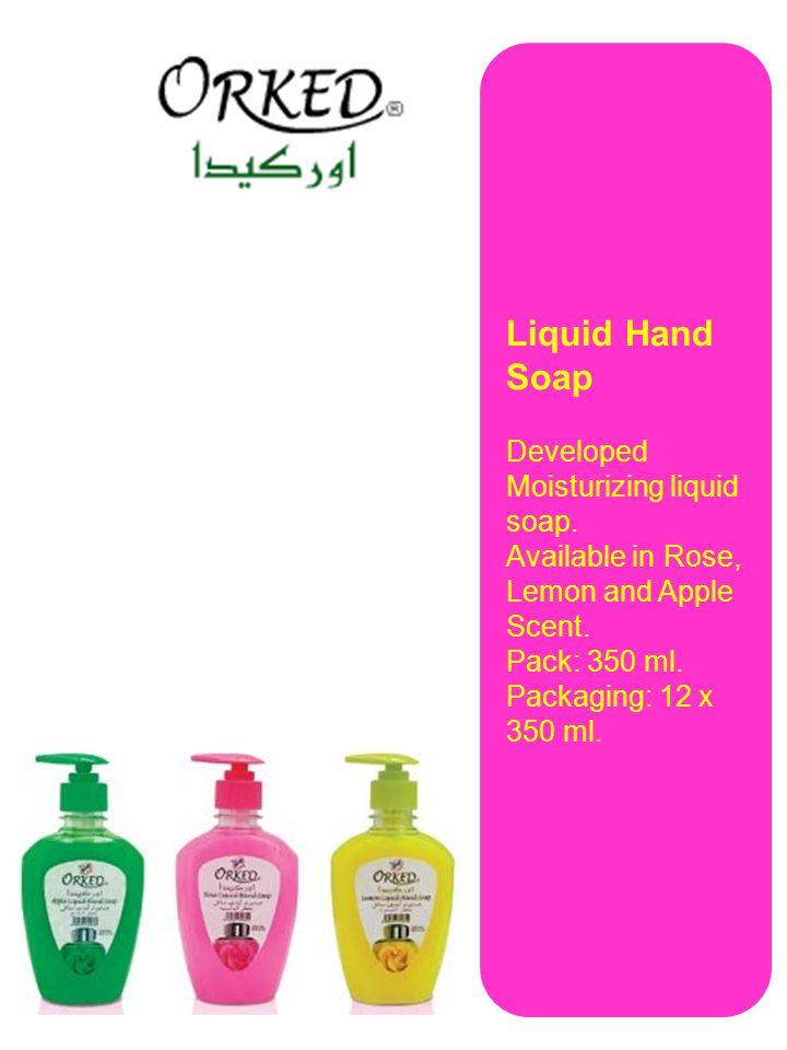 Liquid Hand Soap Developed Moisturizing liquid soap.