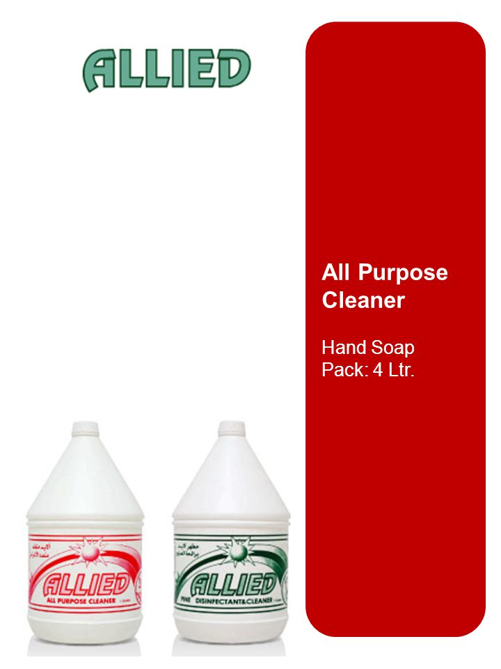 All Purpose Cleaner Hand Soap Pack: 4 Ltr.