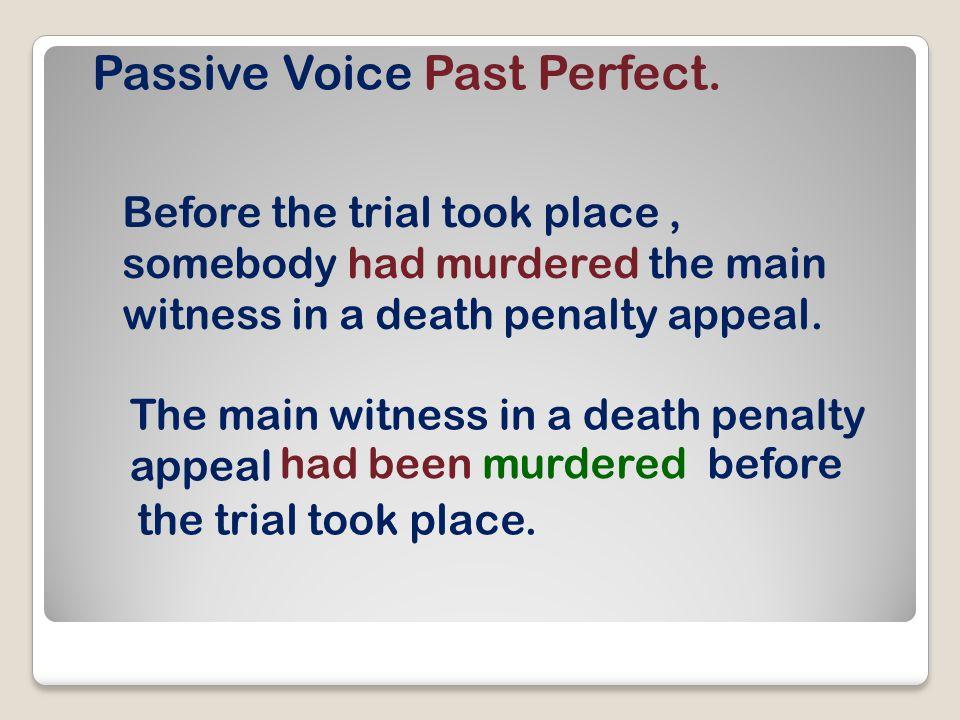 Passive Voice Past Perfect.