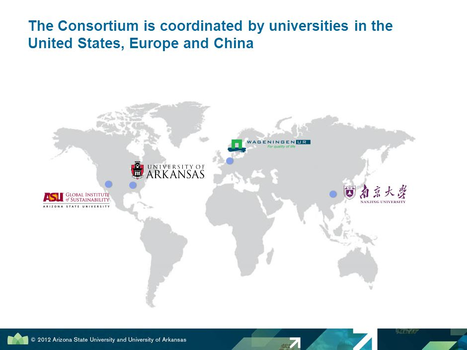 The Consortium is coordinated by universities in the United States, Europe and China