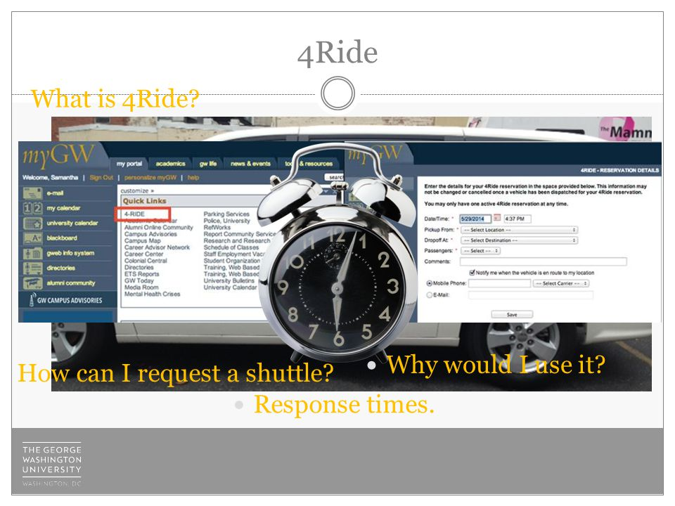 4Ride What is 4Ride Response times. How can I request a shuttle Why would I use it