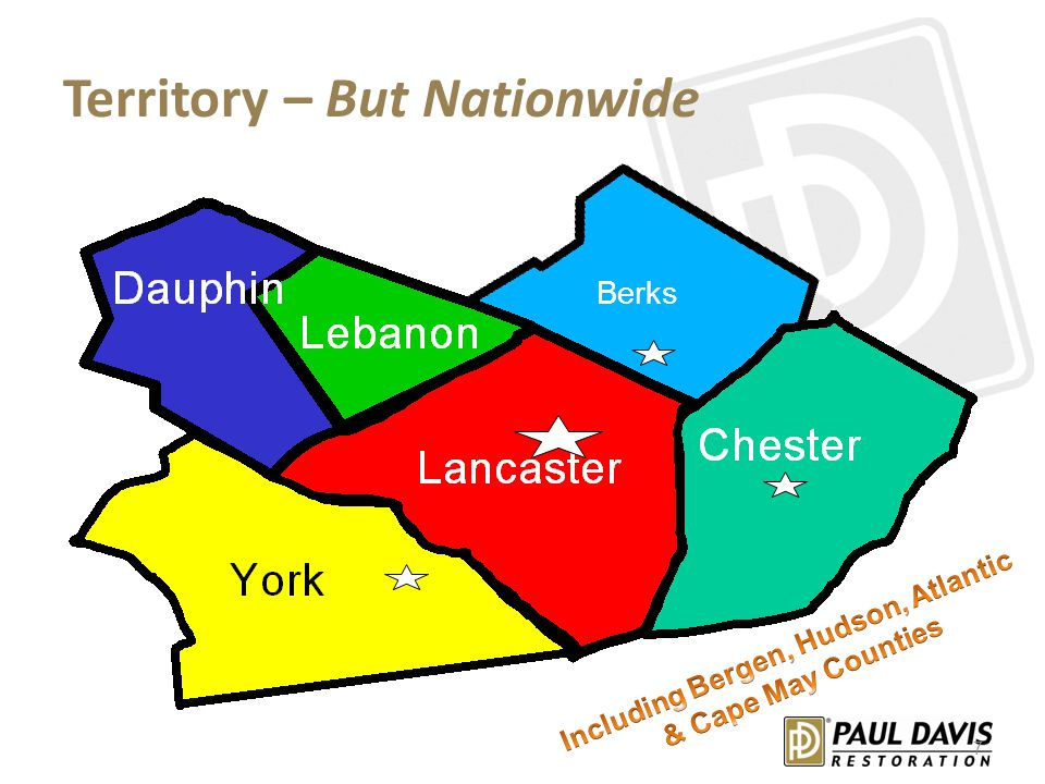 Territory – But Nationwide Dauphin Lebanon Lancaster Chester Berks 7
