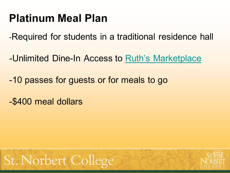 Thank you. www.snc.edu/dining