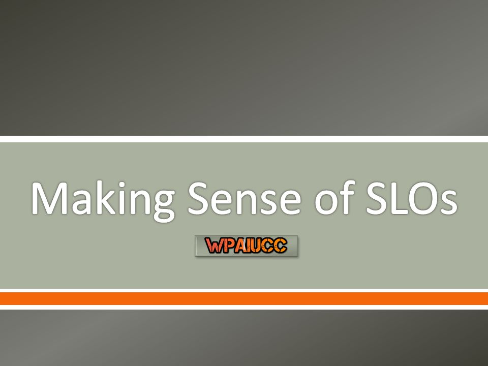 This video is the second in a series of five videos created to support the understanding of SLOs.