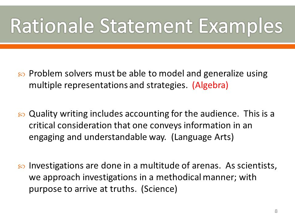  Problem solvers must be able to model and generalize using multiple representations and strategies.