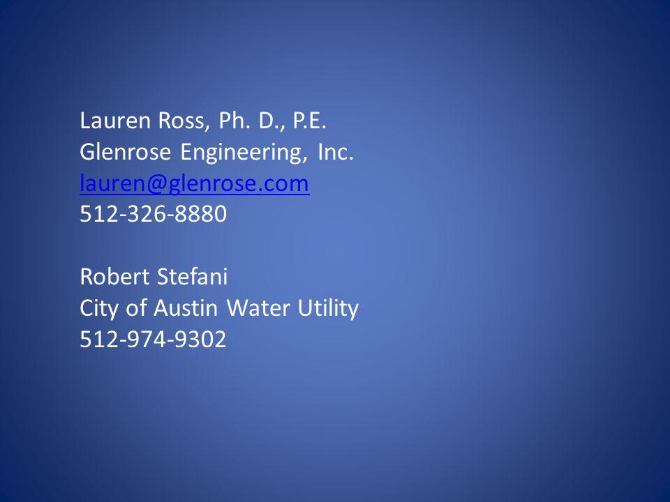 Lauren Ross, Ph. D., P.E. Glenrose Engineering, Inc.