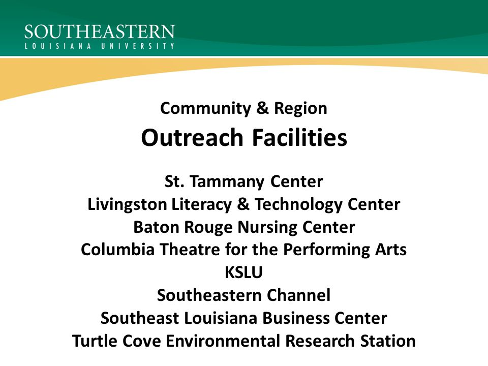 Outreach Facilities St.