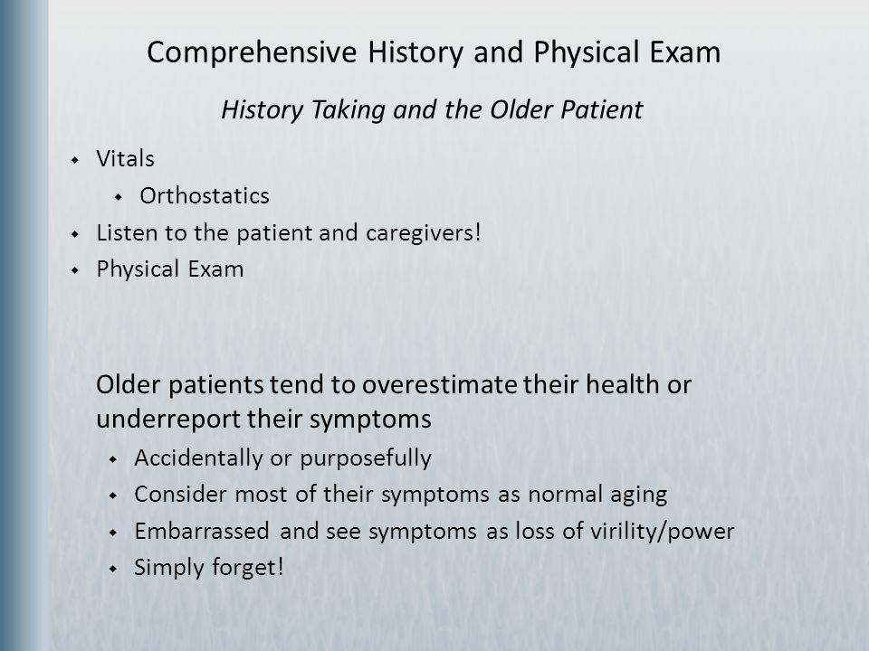 History of Present Illness  Pain  Acute vs.