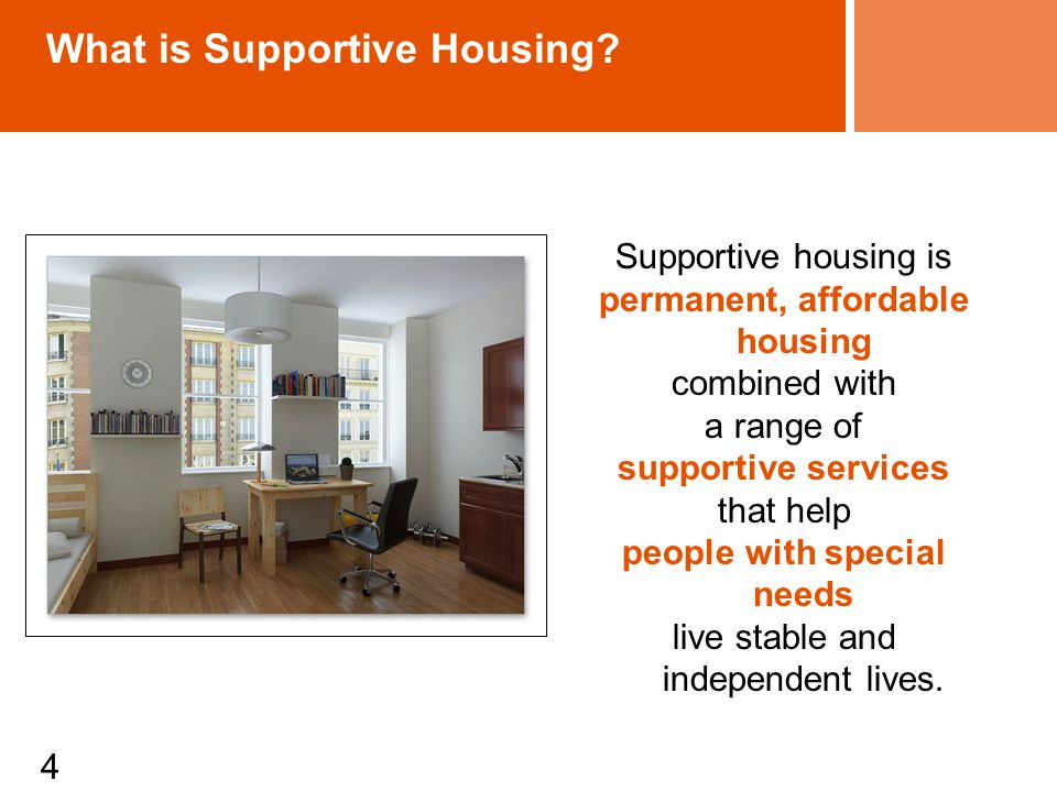4 What is Supportive Housing.