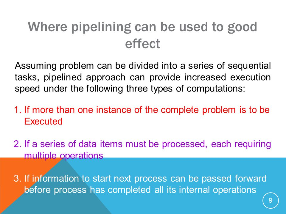 20 Basic code for process Pi : recv(&accumulation, P i-1 ); accumulation = accumulation + number; send(&accumulation, P i+1 ); except for the first process, P 0, which is send(&number, P 1 ); and the last process, P n-1, which is recv(&number, P n-2 ); accumulation = accumulation + number;