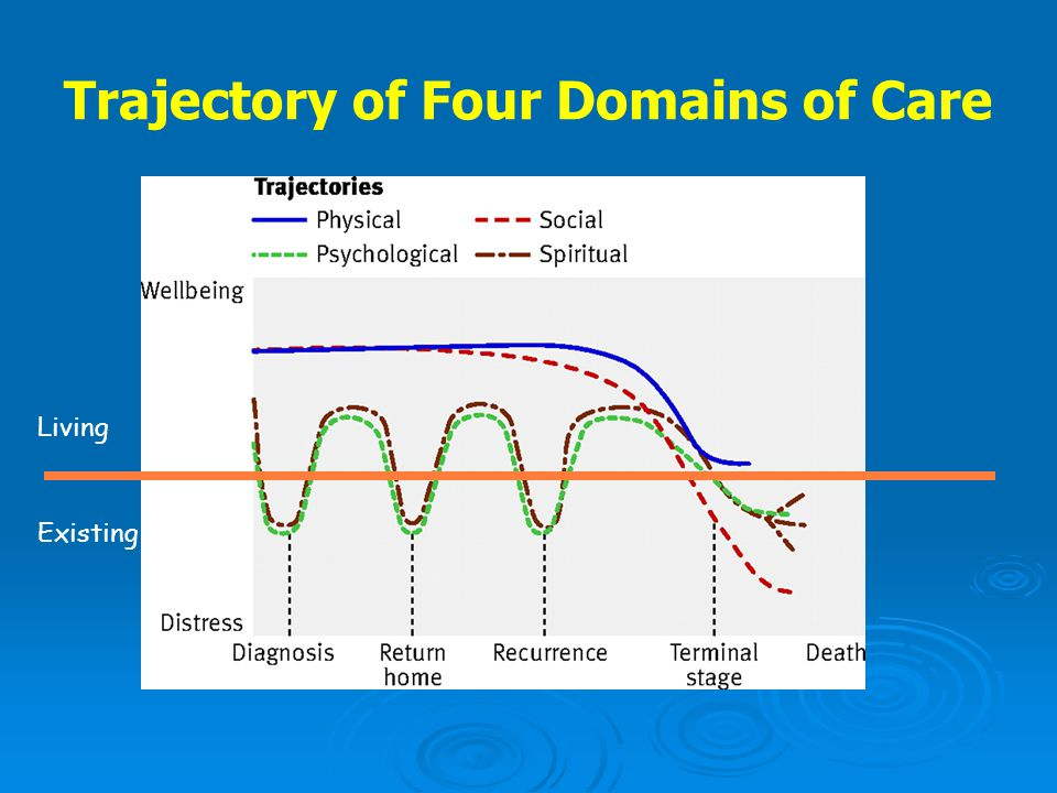 Trajectory of Four Domains of Care Living Existing