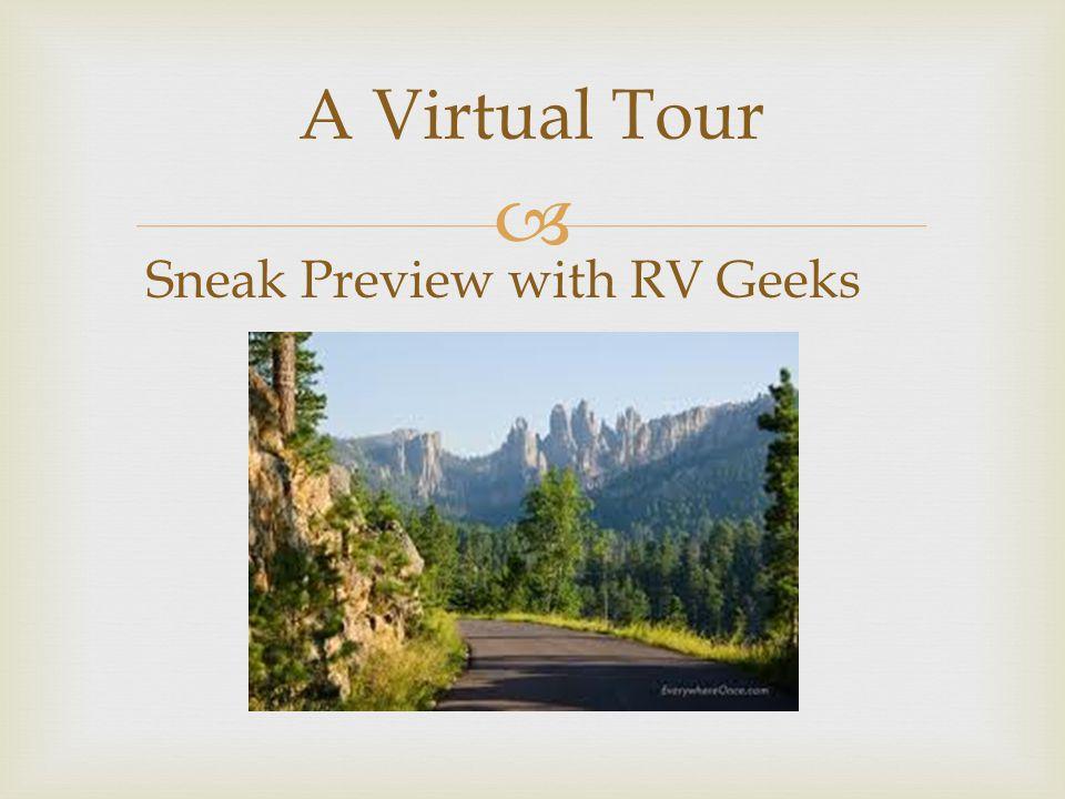  A Virtual Tour Sneak Preview with RV Geeks