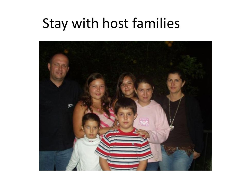 Stay with host families