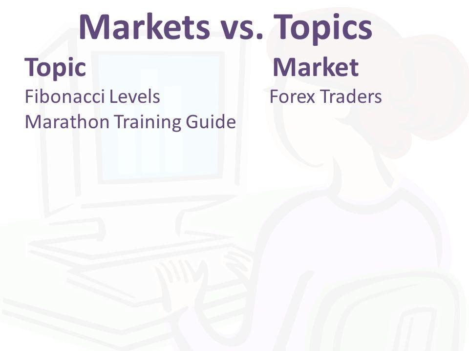 Markets vs. Topics Topic Market Fibonacci Levels Forex Traders Marathon Training Guide