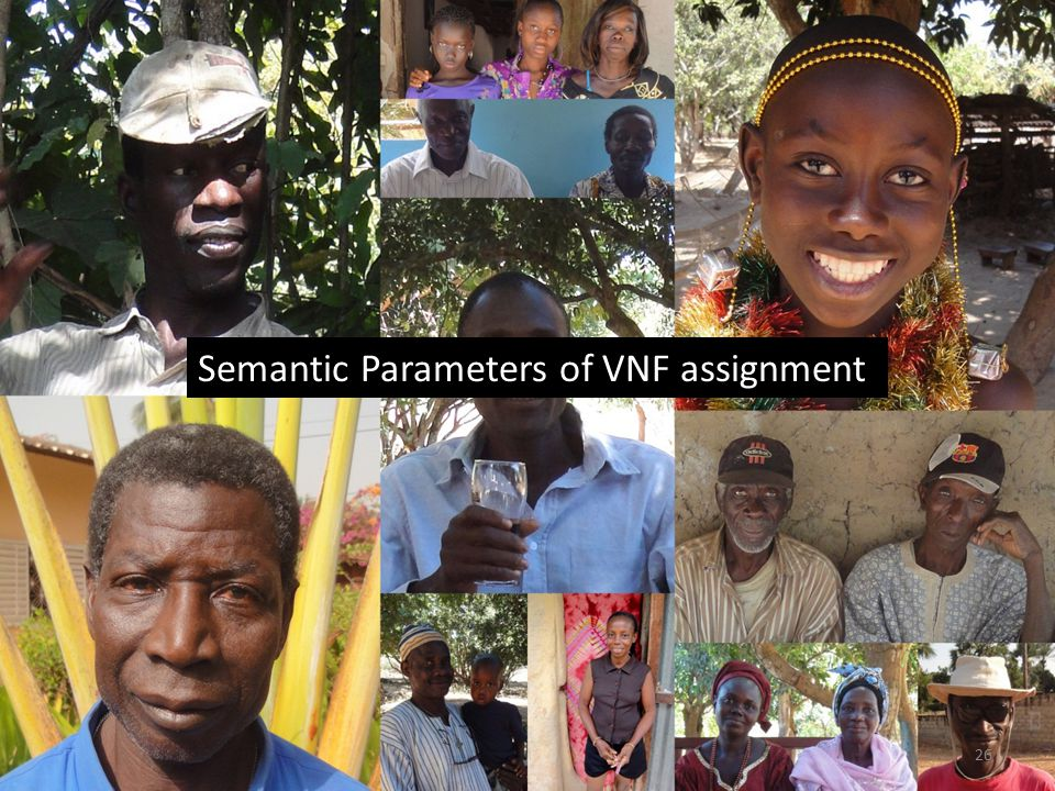 Semantic Parameters of VNF assignment 26