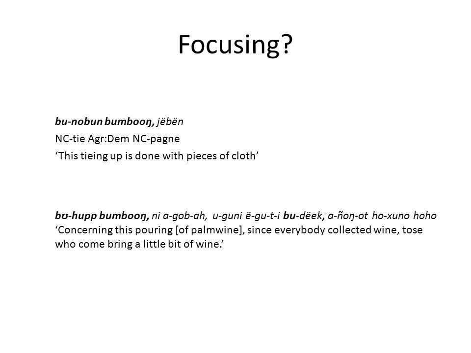 Focusing.