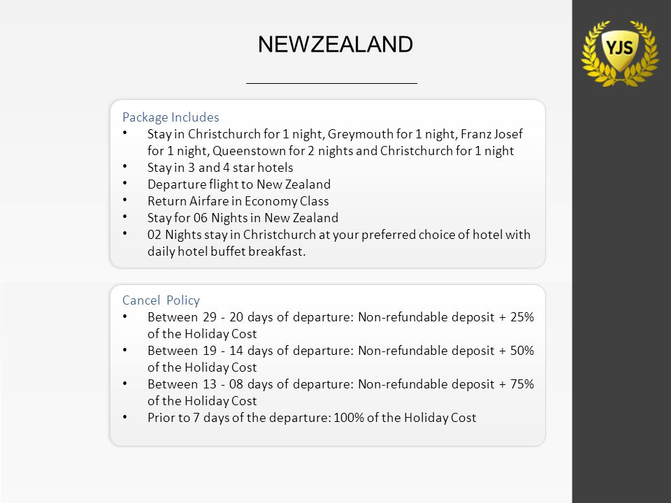 Package Includes Stay in Christchurch for 1 night, Greymouth for 1 night, Franz Josef for 1 night, Queenstown for 2 nights and Christchurch for 1 nigh