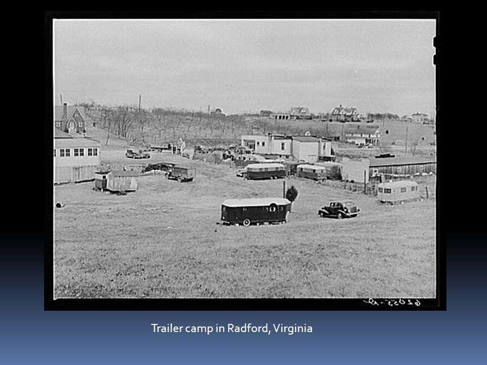 Trailer camp in Radford, Virginia