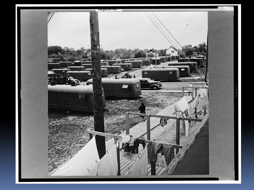 Arlington, Virginia.FSA (Farm Security Administration) trailer camp project for Negroes.