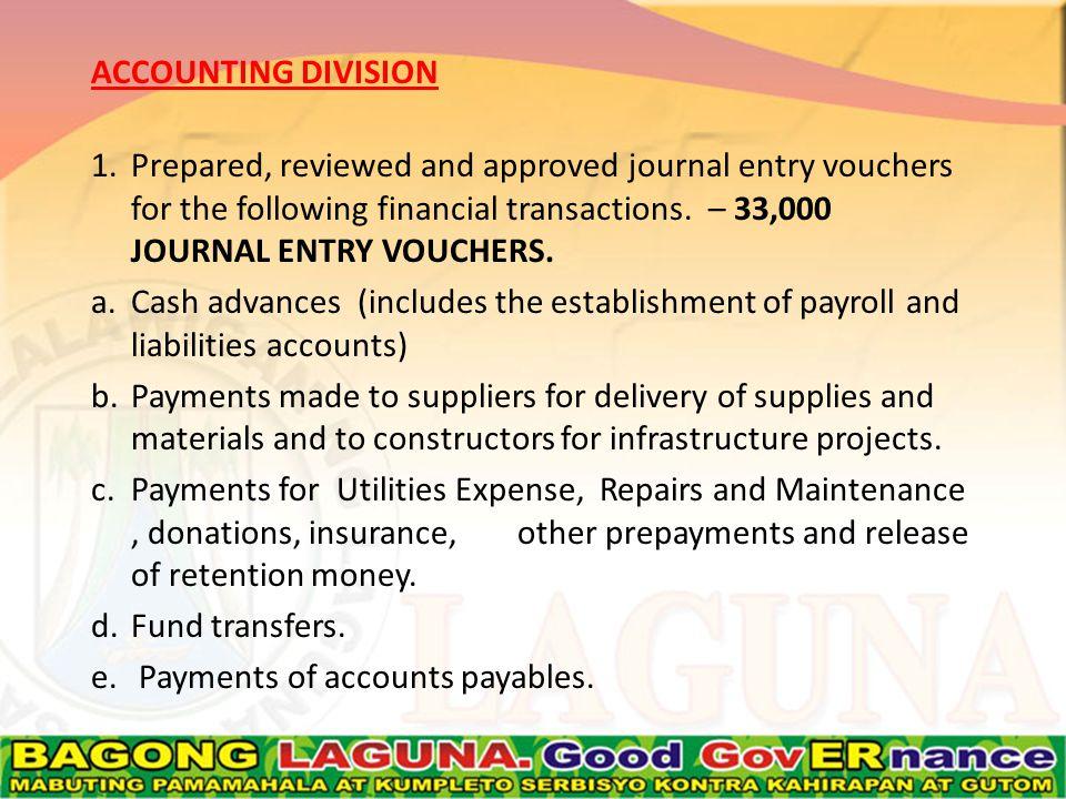 f.Remittances to GSIS, PAG-IBIG, PHILHEALTH, BIR, LBP, QUEDANCOR, PNB and DBP.