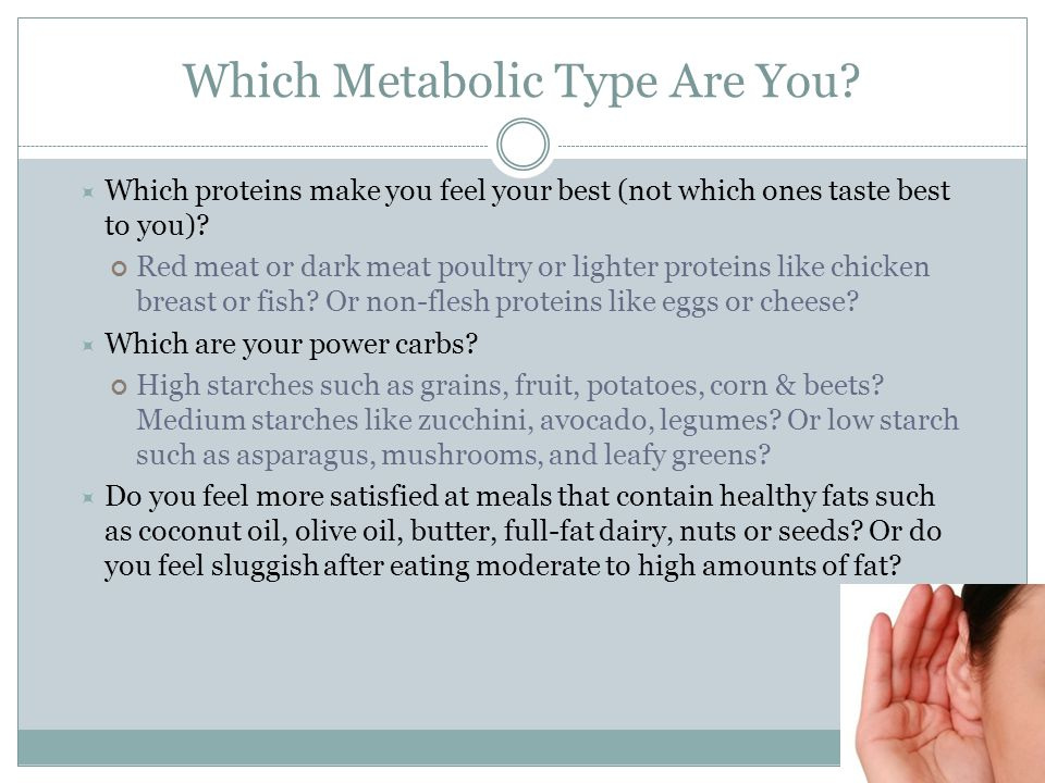 Which Metabolic Type Are You.
