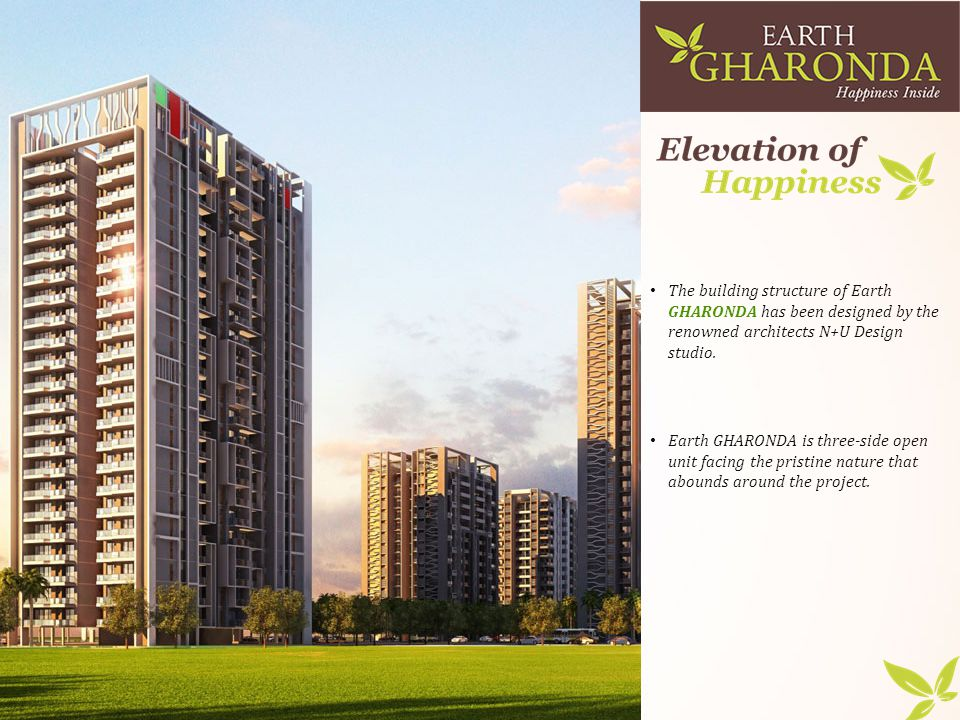 The building structure of Earth GHARONDA has been designed by the renowned architects N+U Design studio.