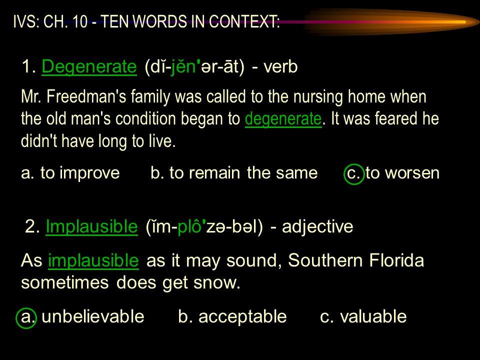 IVS: CH.10 - TEN WORDS IN CONTEXT: Mr.