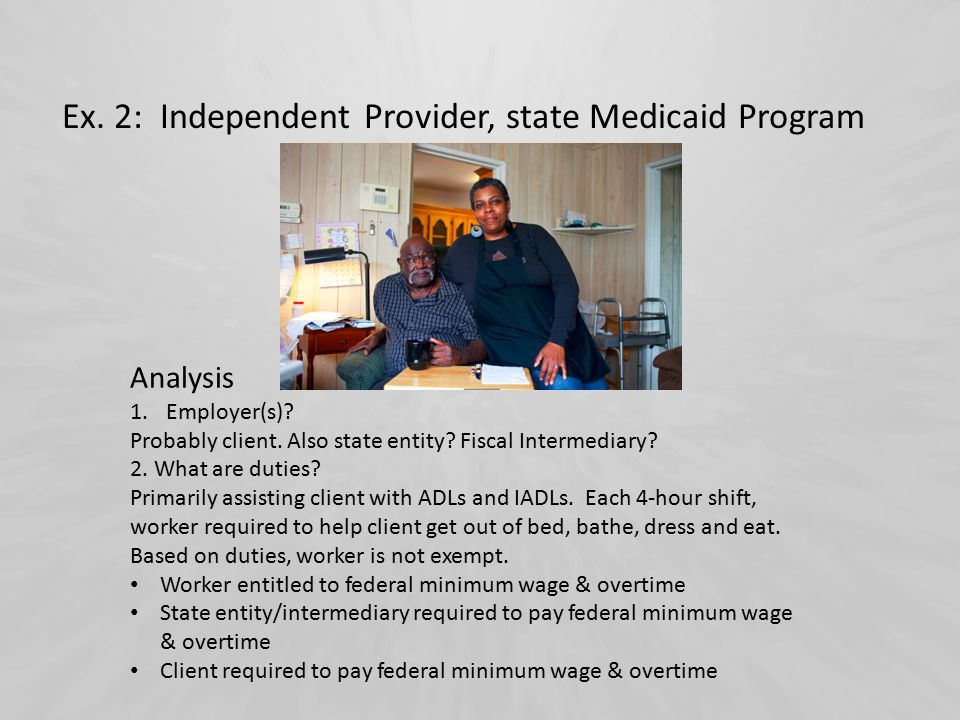 Ex. 2: Independent Provider, state Medicaid Program Analysis 1.Employer(s).