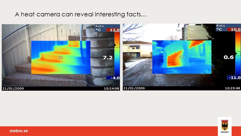 orebro.se A heat camera can reveal interesting facts…