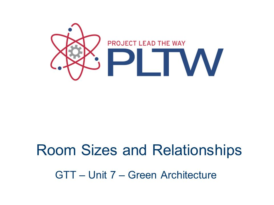 Room Sizes and Relationships GTT – Unit 7 – Green Architecture