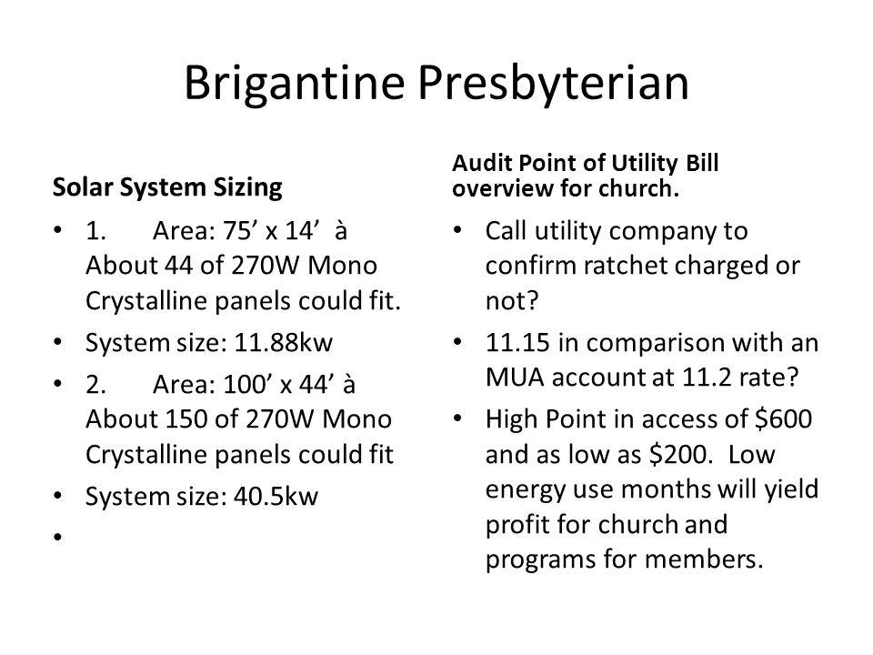 Brigantine Presbyterian Solar System Sizing 1.