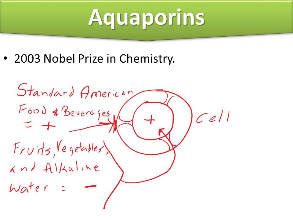 2003 Nobel Prize in Chemistry. Everybody AquaporinsAquaporins