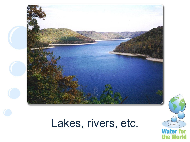 Lakes, rivers, etc.