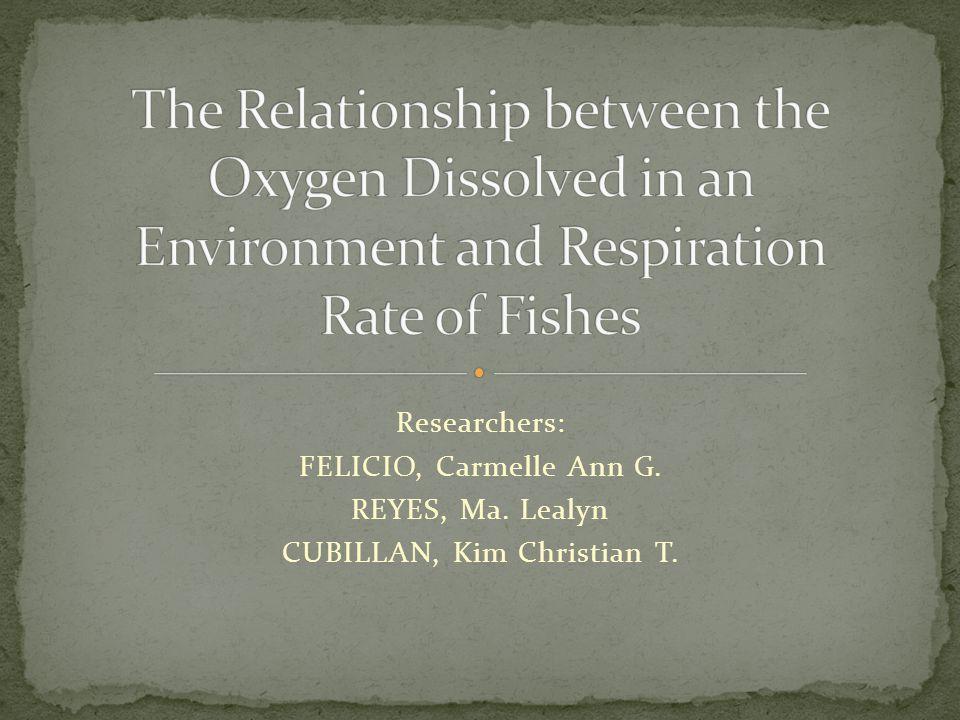 Researchers: FELICIO, Carmelle Ann G. REYES, Ma. Lealyn CUBILLAN, Kim Christian T.