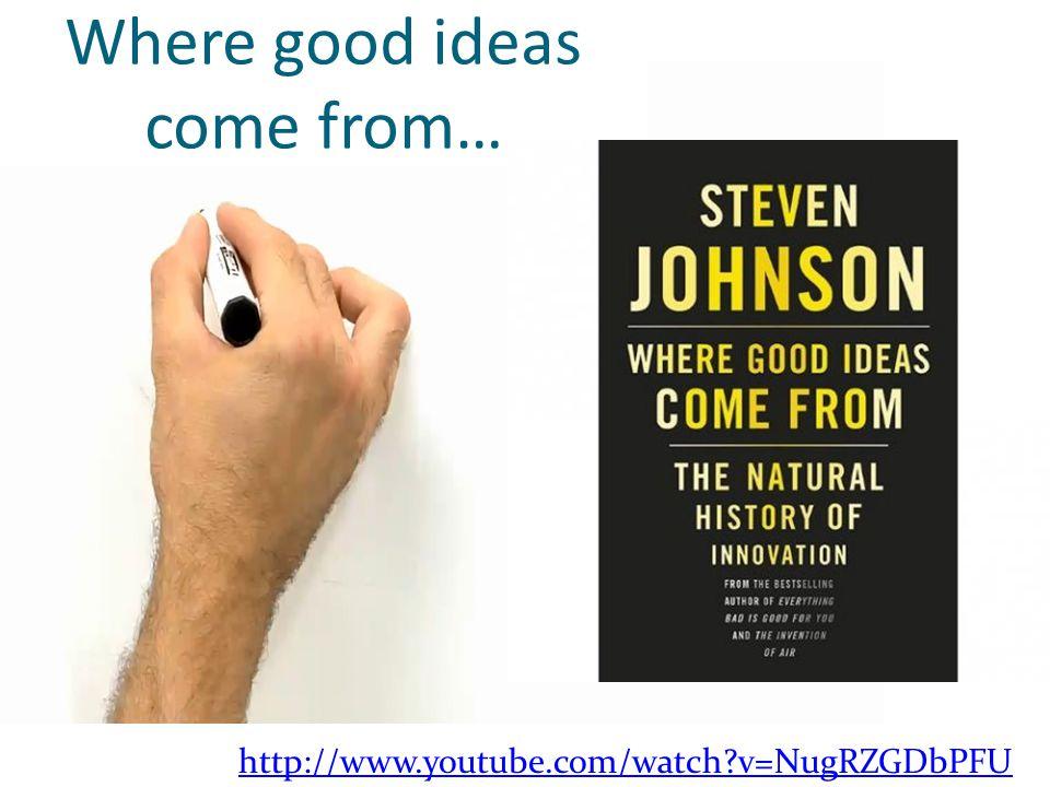 Where good ideas come from… http://www.youtube.com/watch v=NugRZGDbPFU
